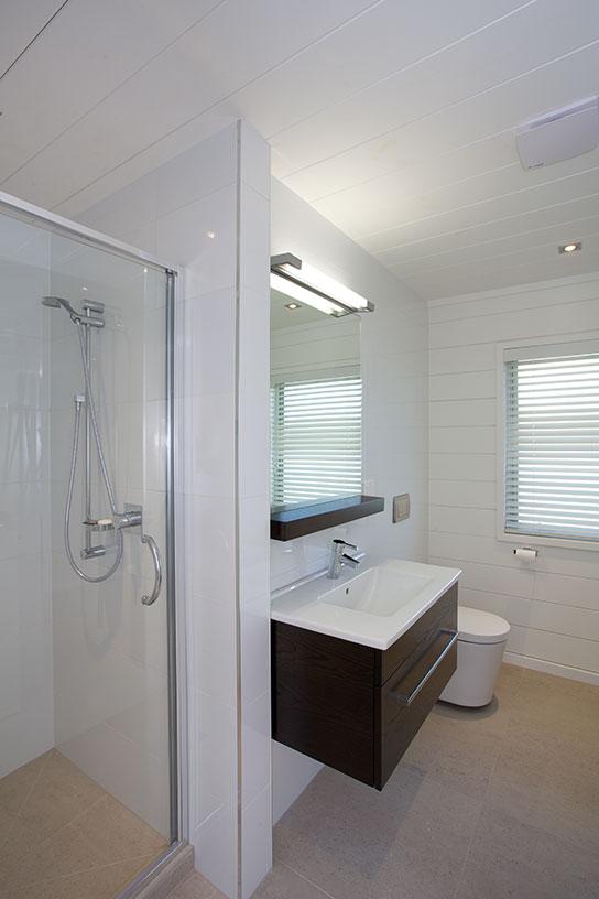 Lockwood Home bathroom painted all white