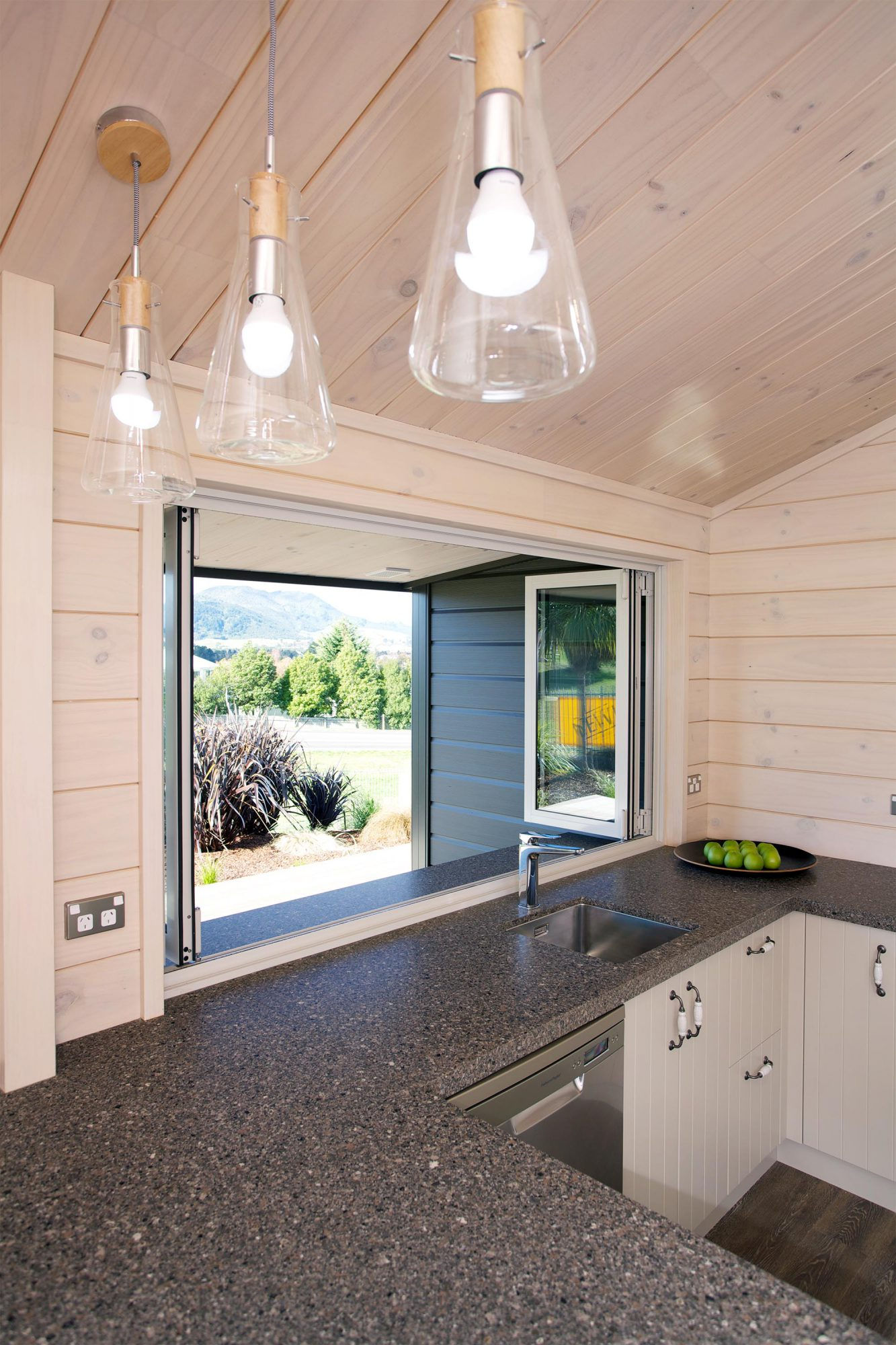 Kitchen with bifold windows