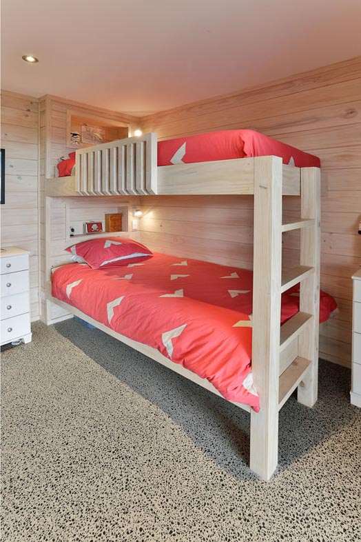 Lockwood Home Built in Bunk Beds Blonded Timber
