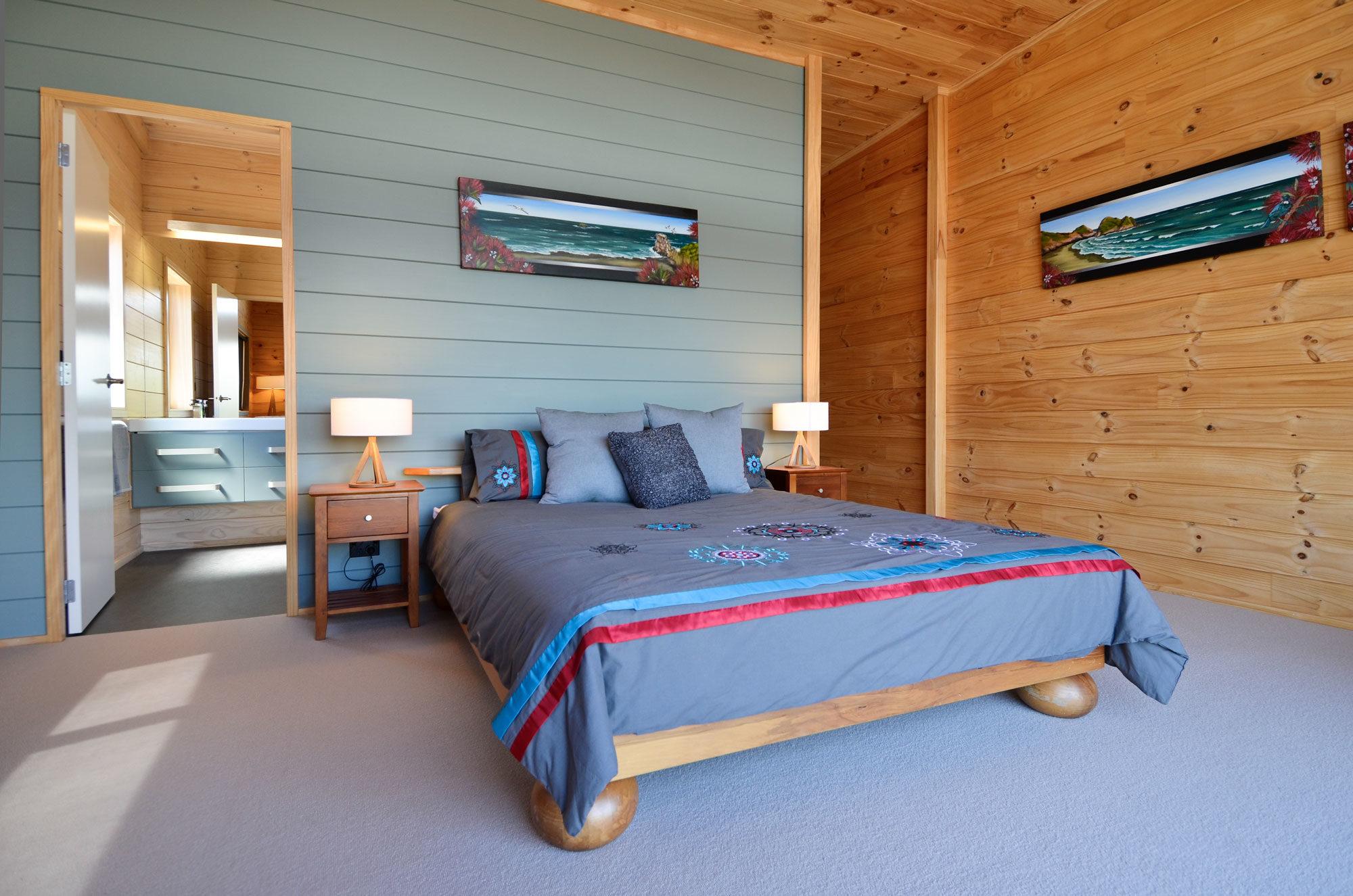 Painted bedroom in a Lockwood